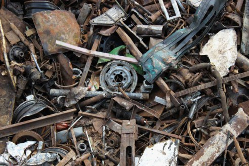 scrap metal recycling pieces