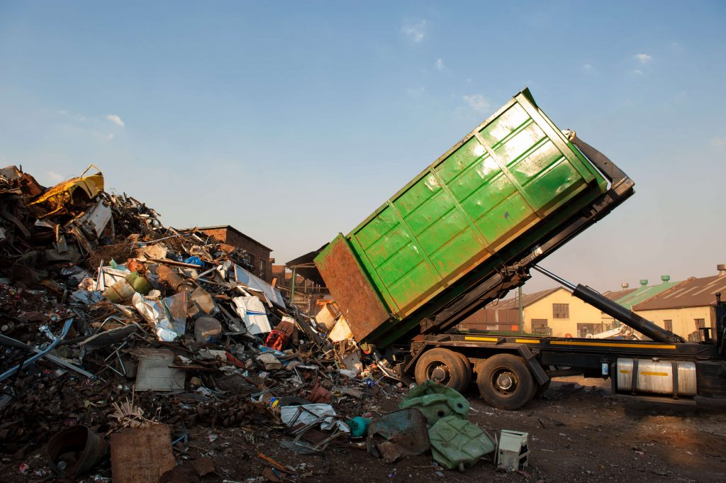 scrap metal recycling truck